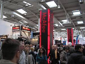 McAfee at CeBIT 2008.
