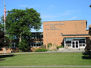 Roman Catholic Diocese of Rochester - Image: Mc Quaid Jesuit High School Front Entrance B
