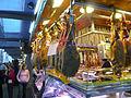 Meat stall at Barcelona market (2924628533).jpg