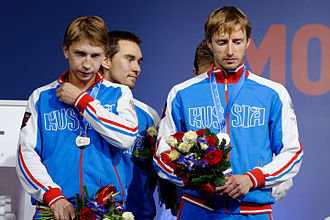 Men's team sabre at the 2015 World Fencing Championships - 2015 silver medallists Russia