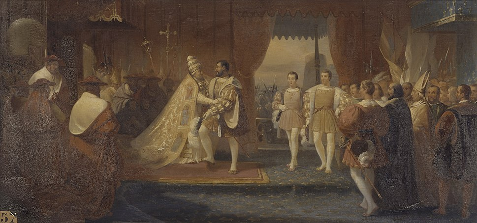 Meeting of Francis I and Pope Clement VII in Marseilles 13 October 1533