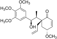 Chemical structure of megaphone