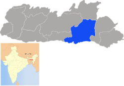 Location of East Khasi Hills district in Meghalaya