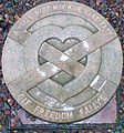 Melrose Abbey - Marker for heart of Robert the Bruce.jpg