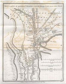 Memphis, Egypte in 1799.