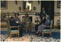 Menahem Begin, Jimmy Carter, Rosalynn Carter, Anwar Sadat and Mrs. Begin gather at the White House for the Camp David... - NARA - 181372.tif