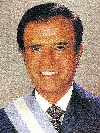 1995 Argentine general election - Image: Menem con banda presidencial (recortada)