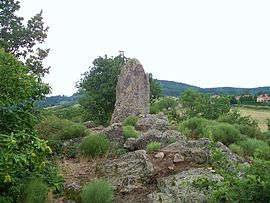 The Menhir du Flat, in Colombier
