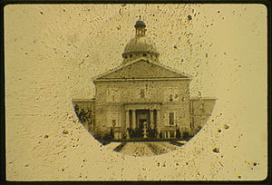 Microphotograph - Image: Mental hospital Philadelphia PA micrograph by Langenheim & Co. ca. 1858