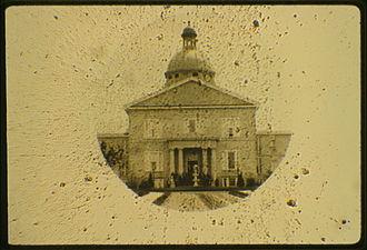 Microphotograph - A 1 mm diameter microphotograph, ca. 1858