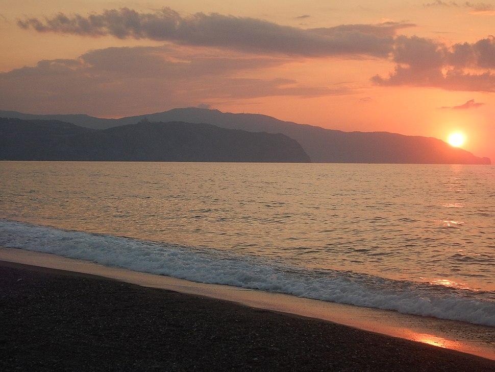 Merchesana beach in Terme Vigliatore, Sicily