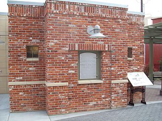 Meridian, Idaho - Heritage Pavilion, Meridian City Hall Plaza, Bricks from the Original Creamery