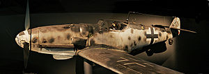 Messerschmitt 109G-6/U4/R3 Wk.n.163824 on display at the Australian War Memorial.