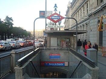Estación De Banco De España Wikipedia La Enciclopedia Libre