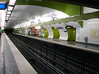 Paris Métro station