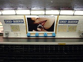 Censier – Daubenton (Paris Métro) - Image: Metro de Paris Ligne 7 Censier Daubenton 01