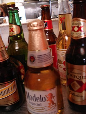 Beer in Mexico - A variety of Mexican beers