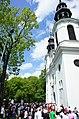 Mińsk Mazowiecki Widok na biały kościół NNMP - panoramio.jpg