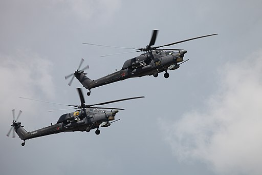 Mi-28N from Berkuti aerobatics team