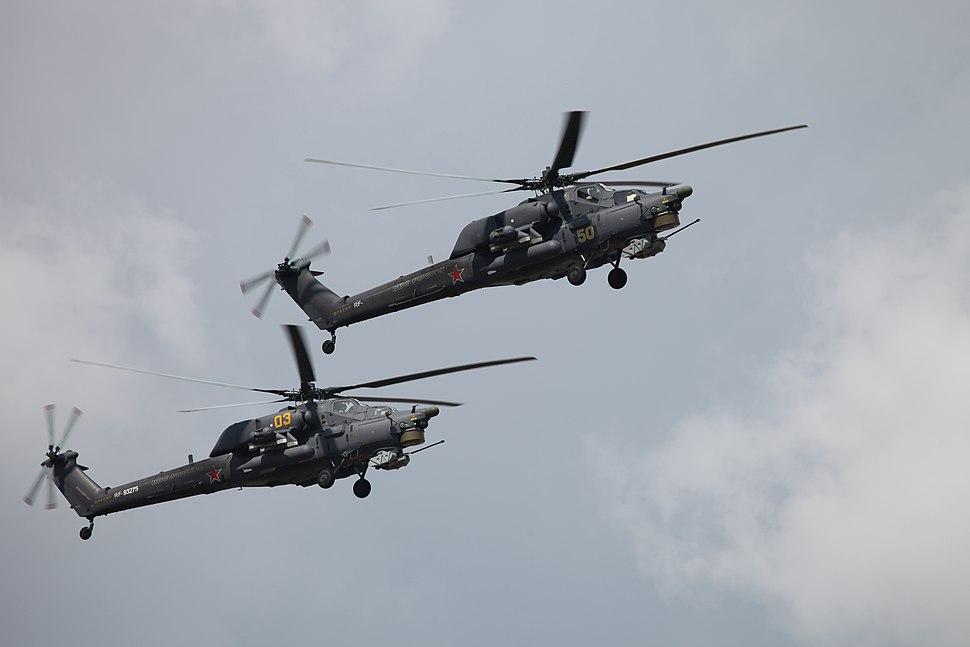 Mi-28N from Berkuti aerobatics team