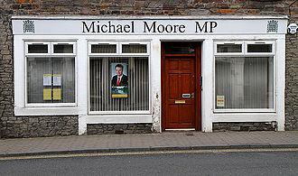 Electoral district - Representatives from electoral districts typically have offices in their respective districts. This photo shows the office of Michael Moore, a Member of Parliament (MP) in the UK.