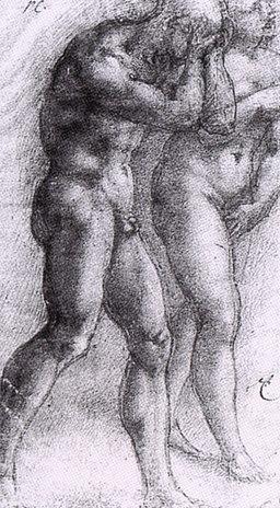 Michelangelo, cacciata dei progenitori, louvre