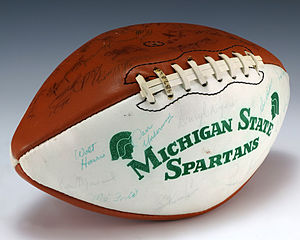 Michigan State Spartans football - A football signed by the 1979 Michigan State Spartans football team