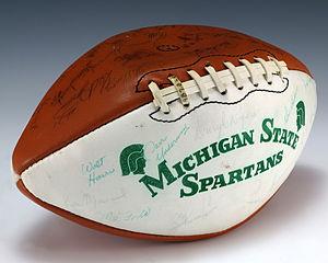 Michigan State Spartans football - A football signed by the 1979 Michigan State Spartans football team