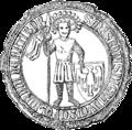 Mieszko I Cieszyński seal 1288.PNG