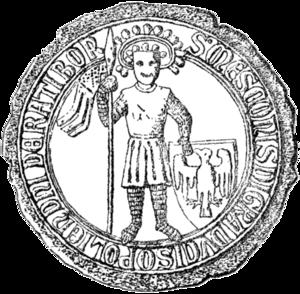 Mieszko I, Duke of Cieszyn - Mieszko I's seal, dated to 1288.