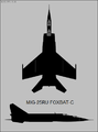 Mikoyan-Gurevich MiG-25RU two-view silhouette.png