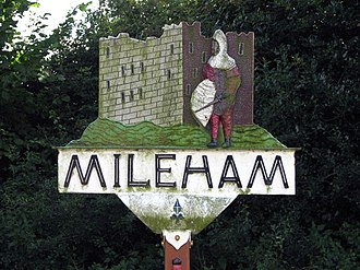 Mileham - Image: Mileham Village Sign