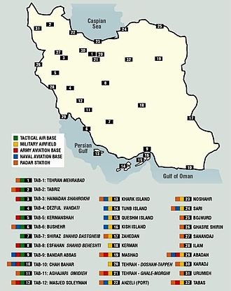 Military base - Different kinds of Military installations of Iran – 2002