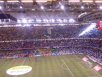 Watford F.C. - Victory in the 2006 Football League Championship play-off Final against Leeds United gained Watford promotion to the Premier League.