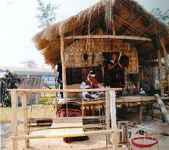 Mishing people - A traditional Mishing house is stilted.