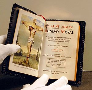 First inauguration of Lyndon B. Johnson - Image: Missal used in lbj inauguration 1963