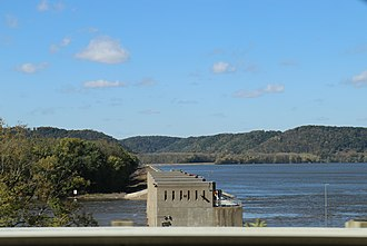 Lock and Dam No. 9 - Ground view from WIS35