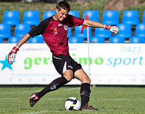Mitchell Langerak - Mitchell Langerak playing for the Melbourne Victory youth team in 2009.