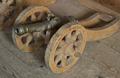 Modell av hjullavett med tillhörande kanonmodell, 1600-tal - Skoklosters slott - 108876.tif