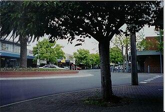 Moe, Victoria - Streetscape in central Moe