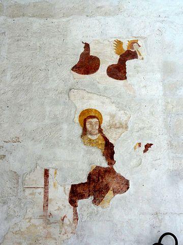 fichier mogneville 60 glise saint denis nef peinture murale au revers de la fa ade. Black Bedroom Furniture Sets. Home Design Ideas
