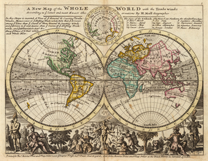 Herman Moll - A new map of the whole world with the trade winds (1736).