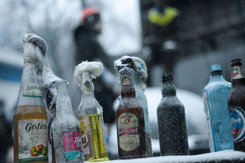 File:Molotov cocktails prepared in advance by protesters. Euromaidan Protests.jpg