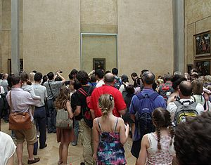 Visitors of Louvre in front of Mona Lisa Бълга...