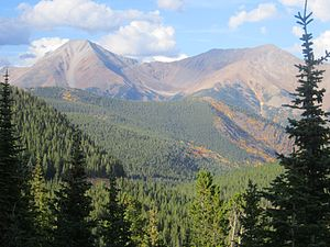 Sawatch Range - Sawatch Range seen from Monarch Pass