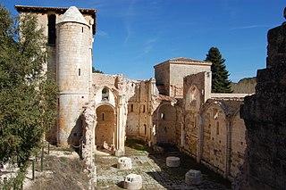 Monastery of San Pedro de Arlanza cultural property in Hortigüela, Spain