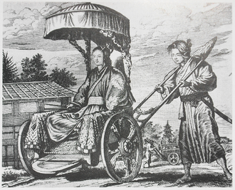 Arnoldus Montanus - Image: Montanus page 161 Rich carriage of a Taikosama lady in waiting