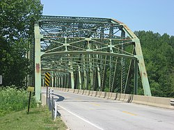 Montezuma's U.S. Route 36 bridge over the Wabash River