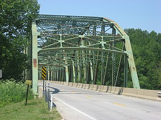 Montezuma, Indiana - Montezuma's U.S. Route 36 bridge over the Wabash River