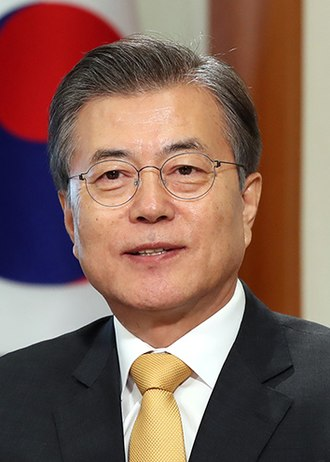 2012 South Korean presidential election - Image: Moon Jae in (2017 10 01) cropped